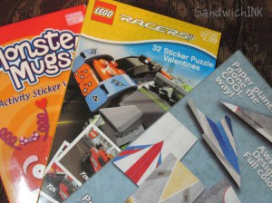 My grandsons will love these lego stickers and cool paper airplanes