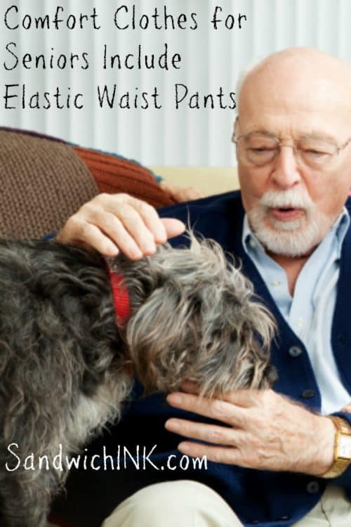 Comfort clothes for seniors include comfortable mens full elastic waist pants great for seniors