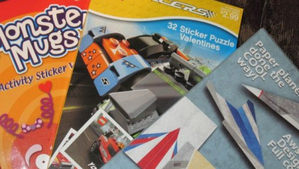 My grandsons loved building paper airplanes easily with the imprinted design on these Valentines