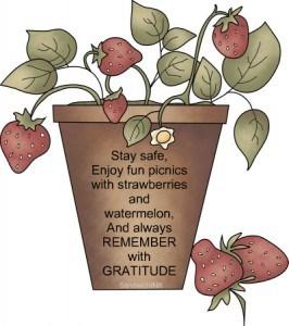 Remember with Gratitude - Memorial Day clip art