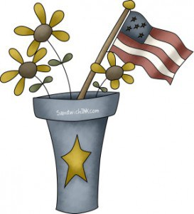 Trinas Memorial Day clip art is great for patriotic activities with grandparents and their grandchildren