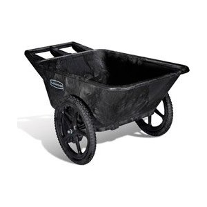 Very sturdy - heavy duty yet light weight Rubbermaid garden cart for serious senior gardening