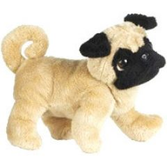 Here is another of the cute Webkinz stuffed animals - a darling pug dog
