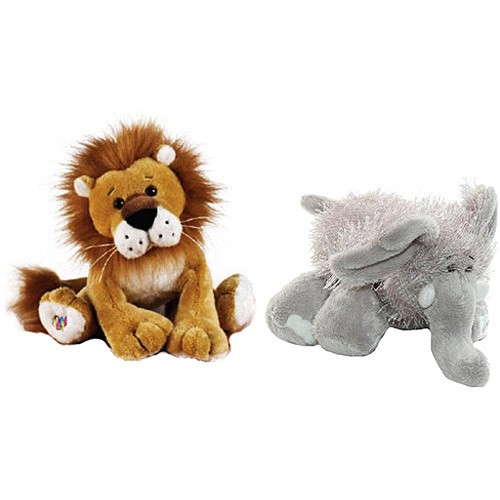 Webkinz Lion and Elephant are great for Bible Memory Verses activities for grandparents and their grandchildren