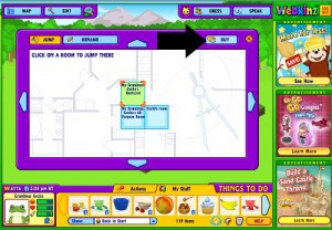 Click on BUY in the top right corner of the new box to buy a Garden room for your Webkinz stuffed virtual animals