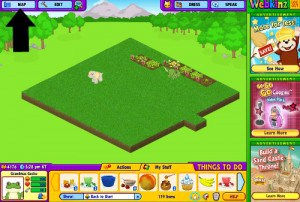 Click on MAP at the top left corner of the Webkinz stuffed and virtual animals room page