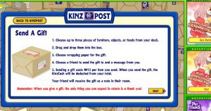 Directions for how to send a gift such as a special toy for a Webkinz Tiger Snake