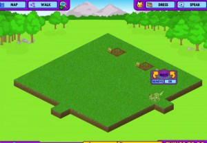 Moving seed crops around the Webkinz stuffed animals garden