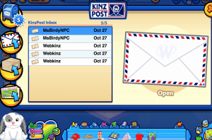 Sending gifts in Webkinz World is via Kinz Post