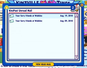 This is apparently an email from the virtual Webkinz stuffed animals