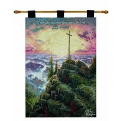 This lovely Thomas Kinkade tapestry reminds us of Gods comforting Bible verses