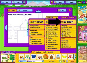 Time to go to W-Shop to shop for the vegetable seeds for your Webkinz Stuffed Animals garden