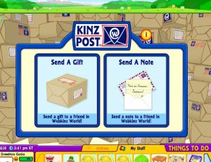 Use KinzPost to send a gift or a note to grandchildren