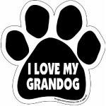 I love my granddog car magnet with cute big paw