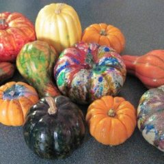 So much fun with these fall pumpkin table decorations activities - easy crafts for kids and seniors - and they make great pies when you are done
