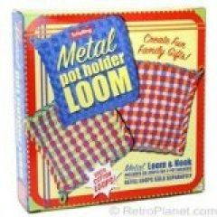 A metal potholder loom is more sturdy for activities for grandparents and their grandchildren