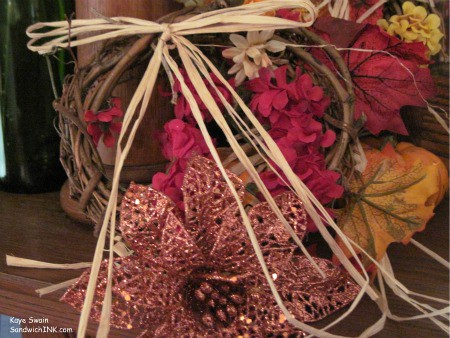 I shared with my grandkids my family memories of their great grandfather making Thanksgiving wreaths for us a few years ago - these are definitely easy crafts for seniors as well as grandchildren