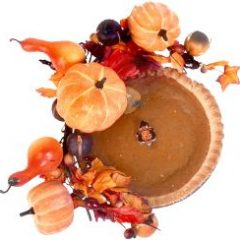 Loved the pumpkin pie at Bob Evans restaurants - and it goes perfectly with our fall pumpkin table decorations