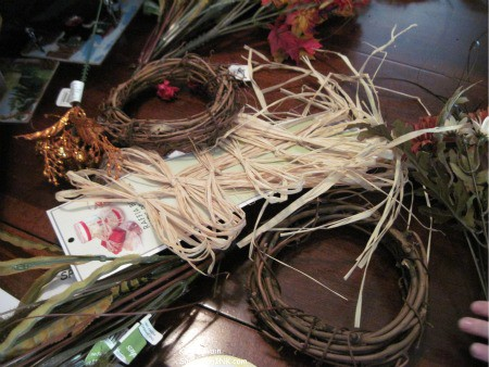 Making Autumn - Fall Thanksgiving wreaths are fun activities for the Sandwich Generation grandparents and their grandchildren full of sweet family memories