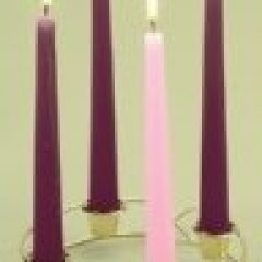 Simple Christmas Advent Candles And Wreaths