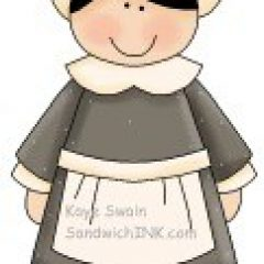 This cute kids Happy thanksgiving clip art is fun clipart for a Sandwich Generation granny nanny to use