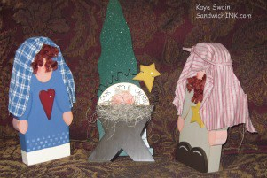 Advent activities for grandparents and their grandchildren in my home include children's Nativity sets