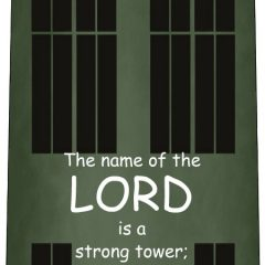 Encouraging Bible verses remind those of us caring for elderly parents and helping with grandkids that the LORD is our strength and strong tower