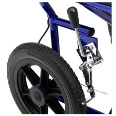 I really like the big back wheel on these lightweight transport travel wheelchairs