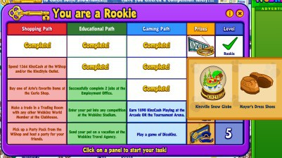 After losing his webkinz stuffed animals code and logon my grandson was thrilled to finally make it to rookie status