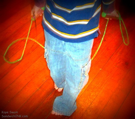 Grandparents looking for fun activities and exercises for grandchildren on cold winter days might invest in a jump rope or 3