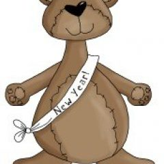 I love Happy Holidays cute country clipart like this New Years Eve clip art - its BEARY fun