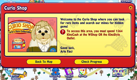 My grandchild had to start over after losing his webkinz stuffed animals logon - he still cannot get back into the curio shop