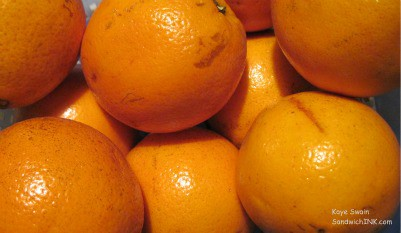 Oranges are a great way to keep this Sandwich Generation granny nanny healthy for babysitting grandchildren