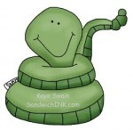 This cute country snake clipart reminds me of how much my grandson loves his Webkinz stuffed tiger snake animals