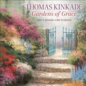 Thomas Kinkade wall calendar with Scripture is full of encouraging Bible verses for the Sandwich Generation