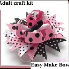 Learn how to make hair bows for grandgirls with these hair instructions and kit - fun activities for grandparents and their grandchildren as well