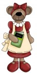 My granddaughter loves the Christy Miller book series by Robin Jones Gunn and I love the Christian encouragement for her as this cute country teddy bear and book clip art illustrate