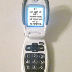 My senior mom loves her Jitterbug - considers them the best cell phones for senior citizens - she got a big smile when I told her I was going to use a photo of hers to help the grandkids with their Bible Memory verses for the children