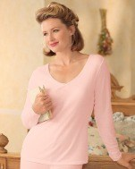 Pink regular or plus size cuddl duds long underwear are comfy cozy warm and PINK