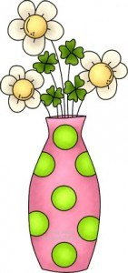More cute St Patricks Day shamrock clip art to say HAPPY PINK SATURDAY to the Sandwich Generation caring for elderly parents and babysitting grandchildren