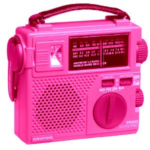 My senior mom loves her grundig radio for day to day listening and I appreciate it for its emergency capability - and now it's all dressed up for PINK Saturday