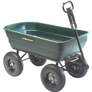 My senior mom loves using garden wagons for her gardening projects - easier than wheelbarrows for her