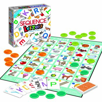 The Sequence Letters board game is challenging but also a fun way to help our grandkids with phonics