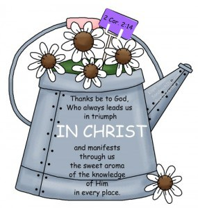 Encouraging Bible verses remind the Sandwich Generation granny nanny and her grandkids that we must do all IN CHRIST