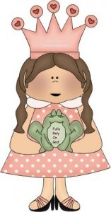 Even pretty pink princess granddaughters love to remember that FROG means FULLY RELY ON GOD
