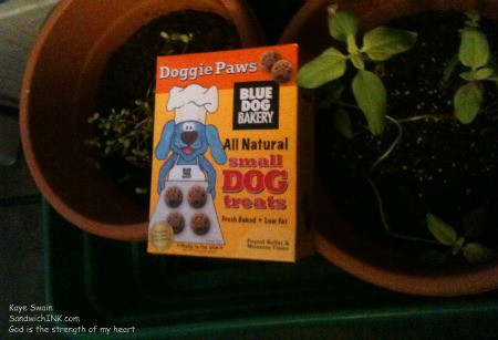 Blue Dog Bakery makes delicious peanut butter dog treats that each granddog LOVES