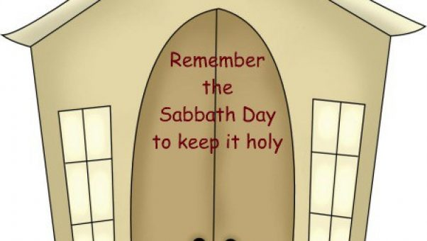 Teaching the ten commandments for children using cute country clipart - we are on the 4th commandment - honor the Sabbath by worshiping together