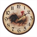 The Sandwich Generation granny nanny loves this cute rooster clock