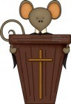 This cute church mouse clipart reminds our grandkids to remember the Sabbath to keep it holy