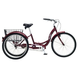 A Schwinn meridian tricycle for adults is a great way to get plenty of fun and physical senior citizen exercise activities and the grandkids love it too